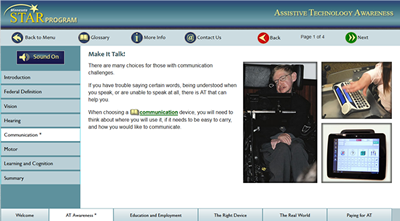 Introduction to Assistive Technology screencapture